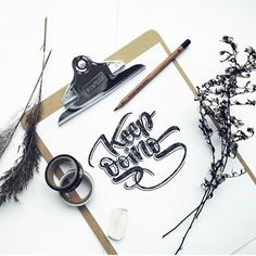Keep doing by @tutajna #Designspiration #lettering #creative #inspiration - View more on http://ift.tt/1LVCgmr