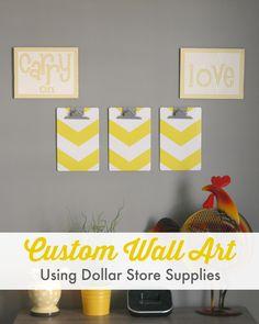 Custom Wall Art {Using Dollar Store Supplies!}
