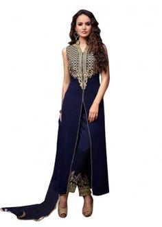 Eid Special Blue Slit Salwar Suit - EBSFSK17714A