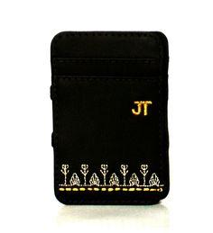 JT Magic Wallet Rural Color: Golden and White #couro #bordado #fashion #accessories #moda #style #design #acessorios #leather #joicetanabe #carteira #carteiramagica #courolegitimo #wallet