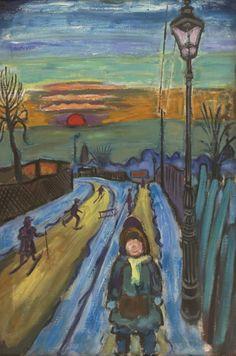"""Bei uns ist schon der Winter eingekehrt. So lautet der Titel der neuen Ausstellung, die wir gerade vorbereiten. Hans Körnig, """"Winter"""", Öl auf Leinwand, 1953    http://www.dresden.de/veranstaltungen-tourismus/snm_vkal_frontend/events/detail/22236 Reproduktion: Olaf Börner/ Museum Körnigreich"""