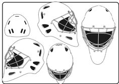 goalie mask template