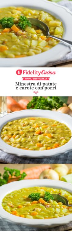 Potato and carrot soup with leeks Vegetarian Recipes, Cooking Recipes, Healthy Recipes, No Salt Recipes, Chicken Recipes, Caldo, Carrot Soup, Best Dinner Recipes, Soup And Sandwich