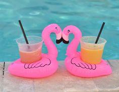 Fun Flamingo Floating Drink Holders
