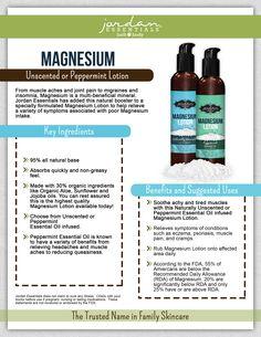 I love Jordan Essentials Magnesium line! www.myjestore.com/PamperYourselfWithJE
