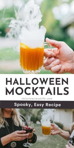 Halloween mocktails are spooky and fun plus, everyone can enjoy them. These non-alcoholic Halloween drinks are yummy will take your party to the next level! Plus, a mocktail recipe can be made in just a few minutes. Like Sangria! These easy to make mocktails are perfect for fall, and make for the best cozy night in drink or a kids party! #HalloweenMocktails #NonAlcoholicDrinks #ThisVivaciousLife Halloween Inspo, Spooky Halloween, Halloween Party, Hard Drinks, Fun Drinks, Refreshing Drinks, Summer Drinks, Fall Recipes, Drink Recipes