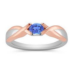 blue and beautiful w/ a touch of rose gold