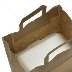 Paper bags with flat handles Patisserie style brown - food and drink Close Image, Handle, Brown Brown, Paper Bags, Flats, Arrow Keys, Pictures, Delivery, Food