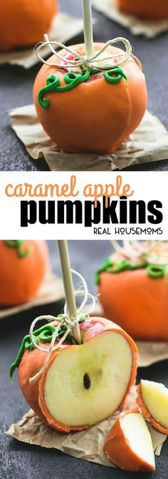 Easy, delicious Caramel Apple Pumpkins are the perfect no-bake, cute and festive treat for every Fall occasion! via @realhousemoms