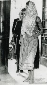 Jackie Onassis in native Corfu costume.