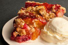Craving this Peach Melba Pie by @AidaMollenkamp in @chow
