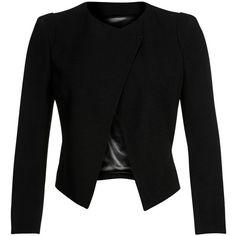 Plein Sud Blazer (7,145 MXN) ❤ liked on Polyvore featuring outerwear, jackets, blazers, tops, coats, black, short blazer jackets, blazer jacket, short jacket and short-sleeve blazers