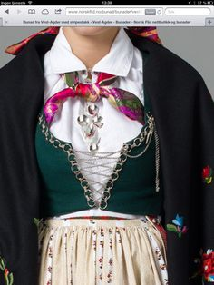 Norwegian Clothing, Kristiansand, Frozen Costume, Folk Clothing, Monochrome Outfit, Central Asia, World Cultures, Traditional Dresses, Color Combinations