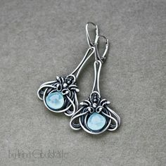 sterling silver earrings with quartz briolettes custom order