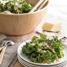 Raw Tuscan Kale Salad with Pecorino From Better Homes and Gardens, ideas and improvement projects for your home and garden plus recipes and entertaining ideas.