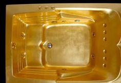 Gold Plated Bathtub