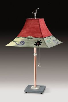 Copper Table Lamp with Medium Drum Shade in Blanket Sketch by ...