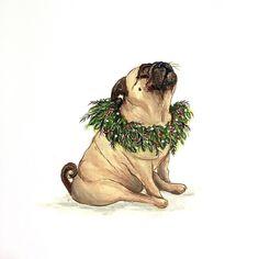 I love pugs! Animals And Pets, Cute Animals, Pug Christmas, Pug Pictures, Dog Photos, Pugs And Kisses, Pug Art, Cute Pugs, Dog Cat