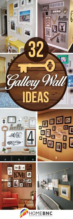 We're always looking for cheap and easy DIY wall decor ideas. A DIY gallery wall.We're always looking for cheap and easy DIY wall decor ideas. A DIY gallery wall is the perfect way to display Handmade Home Decor, Diy Home Decor, Home Projects, New Homes, House Design, Picture Frame Collages, Picture Frames On Wall, Family Picture Walls, Wall Decor Frames