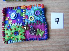 Patchwork brooch number 7 by MrsBellybuttonsfluff on Etsy, $12.00