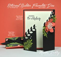 Created with the Botanical Builder Framelits Dies- Stampin' Up! Stampin Up, Fancy Fold Cards, Folded Cards, Shaped Cards, Stamping Up Cards, Card Sketches, Copics, Creative Cards, Cool Cards
