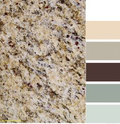 Santa Cecilia granite with color scheme. - Bathroom Granite - Ideas of Bathroom Granite - Santa Cecilia granite with color scheme. Brown Granite Countertops, Outdoor Kitchen Countertops, Granite Kitchen, Kitchen Backsplash, Backsplash Ideas, Kitchen Grey, Granite Bathroom, Paint Backsplash, Bathroom Cabinets