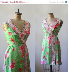 1960s Floral Summer Dress $64 by SassySisterVintage