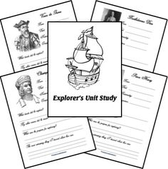 Explorer Unit ... Notebooking Pages and Timeline printables