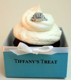 BRILLIANT. Any guy who gives me a ring AND a cupcake is a keeper!