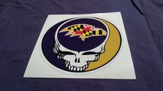 Steal Your State Maryland State Ravens style Flag Grateful Dead style sticker Baltimore by ZavaJam, $4.40