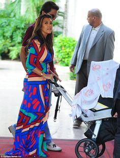 kourtney kardashian - geometric multi color dress