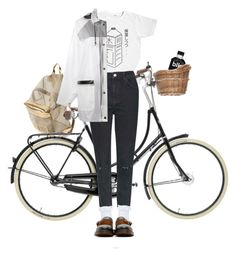 """""""grocery run"""" by paper-freckles ❤ liked on Polyvore featuring Topshop, DKNY and Dr. Martens"""