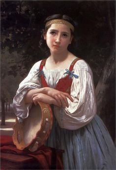 Gypsy Girl with a Basque Drum by William-Adolphe Bouguereau, 1867