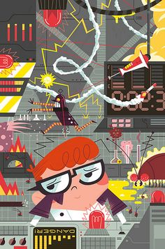 Dexter's Laboratory Cover by Andrew Kolb