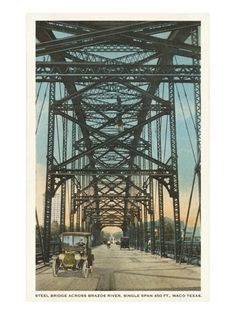 Steel Bridge, Waco, Texas Premium Poster at Art.com