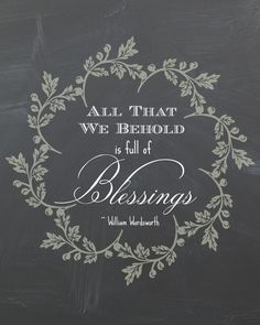 """Free Printable: """"All That We Behold"""" for the upcoming Thanksgiving Holiday. By SnazzyLittleThings.com"""