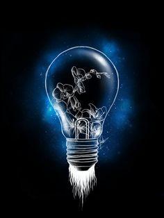 Light bulb (hoodie design) by MoonArt2017