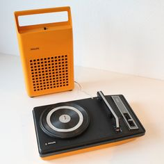 Philips 133 Portable Record Player.  Really, how awesome is this?! (: