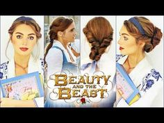 All the beauty and the beast hairstyles from Disney& new live action movie with Emma Watson. Now you can see a hair tutorial on how to do all the styles fro. Belle Cosplay, Diy Belle Costume, Beauty And The Beast Costume, Belle Beauty And The Beast, Maquillage Emma Watson, Emma Watson Belle, Belle Blue Dress, Belle Disney, Belle Makeup