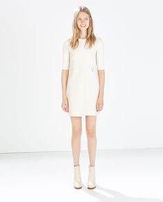 Image 1 of SEAMED DRESS WITH FLAPS from Zara