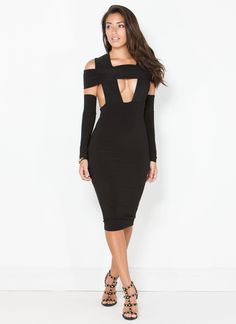Thought your last #OOTN was a game-changer? Just wait until you wear this sexy bodycon dress tonight.