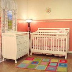 Athena Amy Convertible Crib Set in White --- http://bizz.mx/j4h