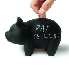 Bills Piggy Bank - Ceramic   dotandbo.com