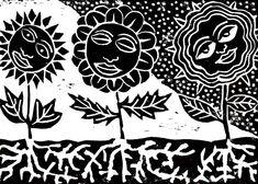 Drei Blumen, drei Gesichter (Abzug 05)  15. Dezember 2017