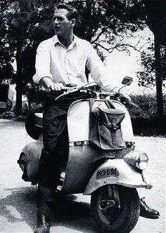 Paul Newman & vespa