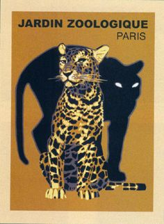 Vintage Poster for the Paris Zoo.