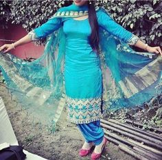 Colors & Crafts Boutique™ offers unique apparel and jewelry to women who value versatility, style and comfort. For inquiries: Call/Text/Whatsapp Designer Punjabi Suits, Indian Designer Wear, Pakistani Outfits, Indian Outfits, Indian Dresses, Punjabi Fashion, Indian Fashion, Patiala Salwar Suits, Suits For Women