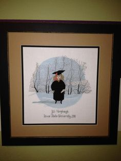 "P. Buckley Moss ""Graduation Girl"" counted cross stitch"