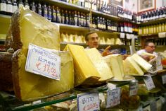 Our favourite cheese seller at Antica Caciara!