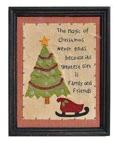 Take a look at this Magic Christmas Framed Wall Art by Pearson's Simply Primitives on #zulily today!